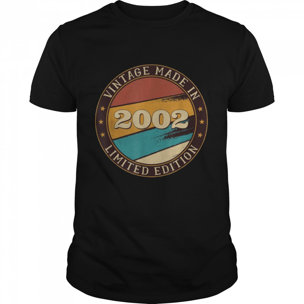 19 Years Old Vintage Classic Made In 2002 19th Birthday  Classic Men's T-shirt