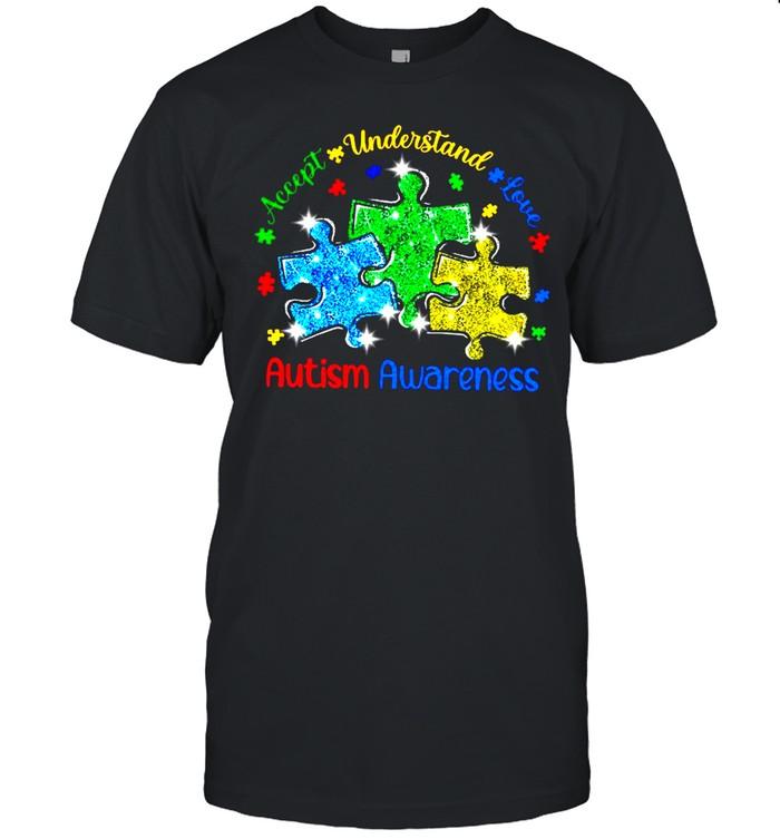 Accept Understand Love Diamond Autism Awareness shirt Classic Men's T-shirt