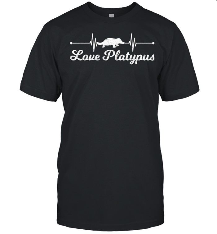 Australian Animal  Zoo Animal Heartbeat Love Platypus  Classic Men's T-shirt