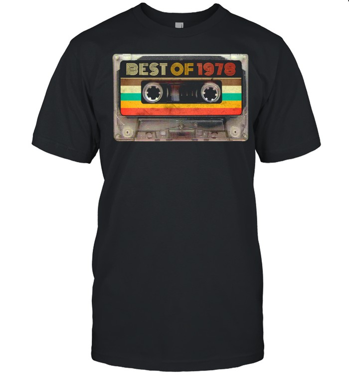 Best Of 1978 43rd Birthday Vintage Cassette Tape Retro  Classic Men's T-shirt