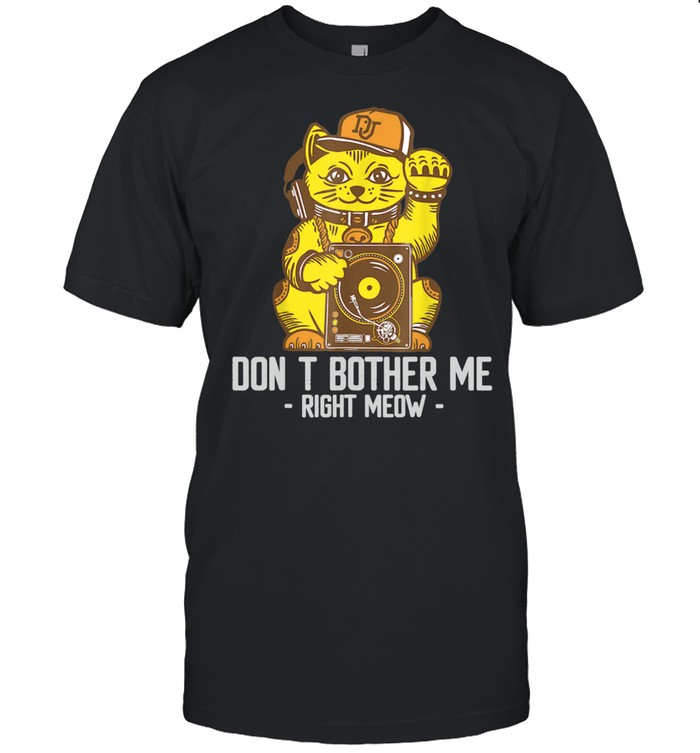 Don't Bother Me Right Meow Video Gamer Cat  Classic Men's T-shirt