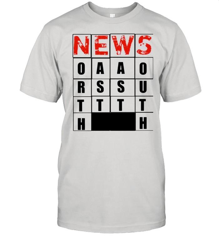 Hot NEWS casual crossword shirt Classic Men's T-shirt