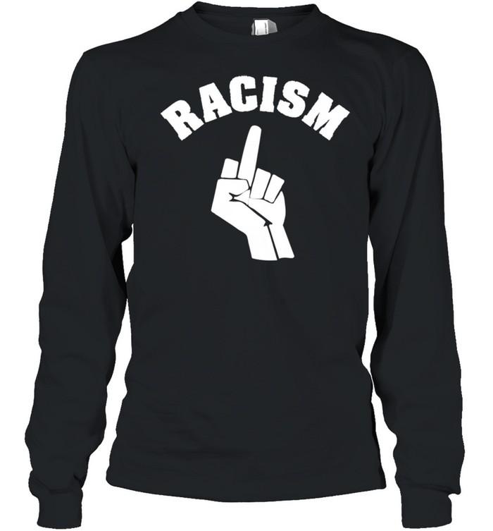 Human Rights Racism BLM Fist Stop Langarmshirt shirt Long Sleeved T-shirt