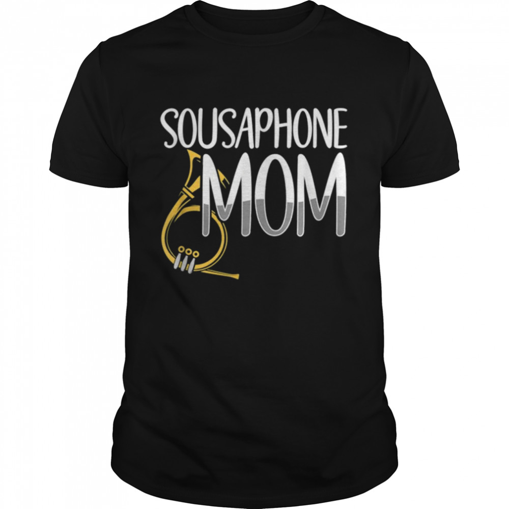Sousaphone Mom Retro Musical Instrument Mother's Day Saying  Classic Men's T-shirt