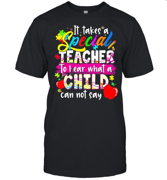 Autism Awareness Teacher It Takes A Special Teacher  Classic Men's T-shirt