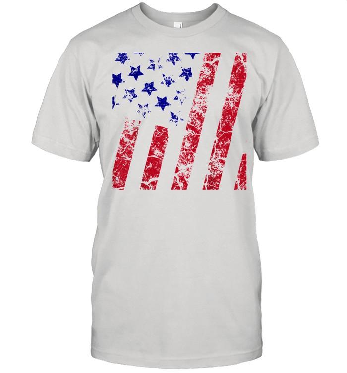 Distressed Boys Girls American Flag  Classic Men's T-shirt