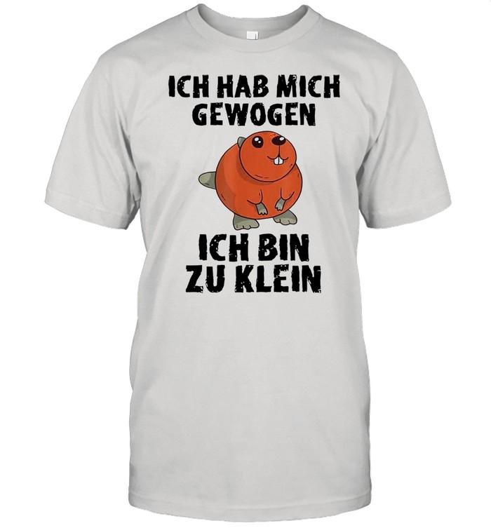 Hase Ich Hab Mich Gewogen Ich Bin Zuklein  Classic Men's T-shirt