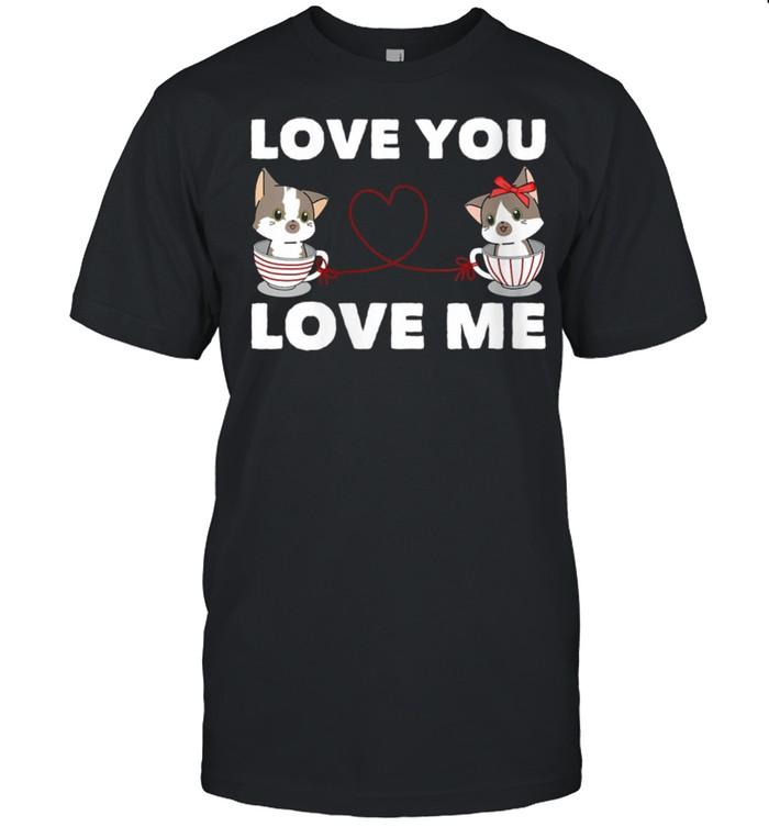 Heart Cat Love Romantic Couple Kitten shirt Classic Men's T-shirt