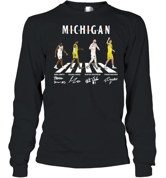 Michigan Wolverines Abbey Road Signatures shirt Long Sleeved T-shirt