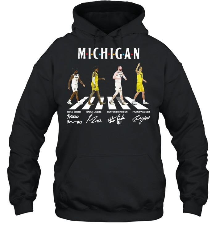 Michigan Wolverines Abbey Road Signatures shirt Unisex Hoodie