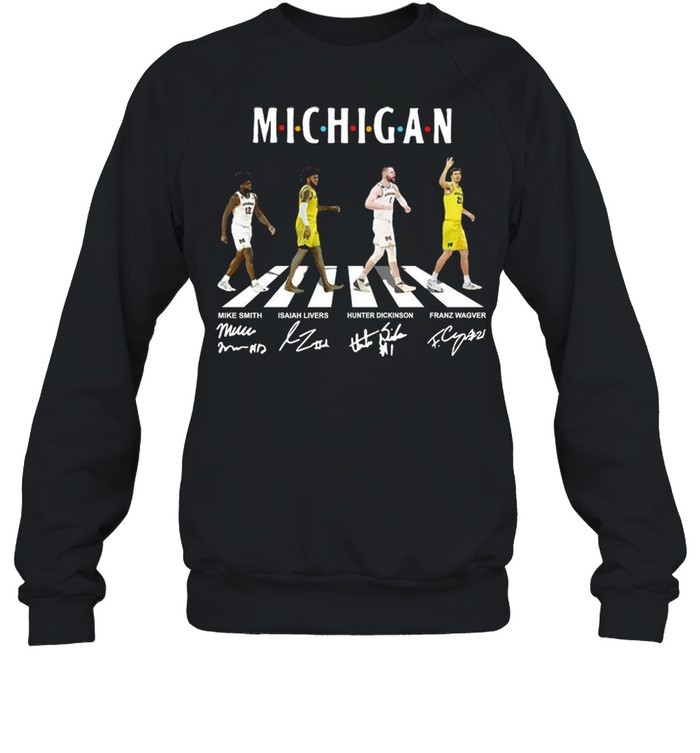 Michigan Wolverines Abbey Road Signatures shirt Unisex Sweatshirt