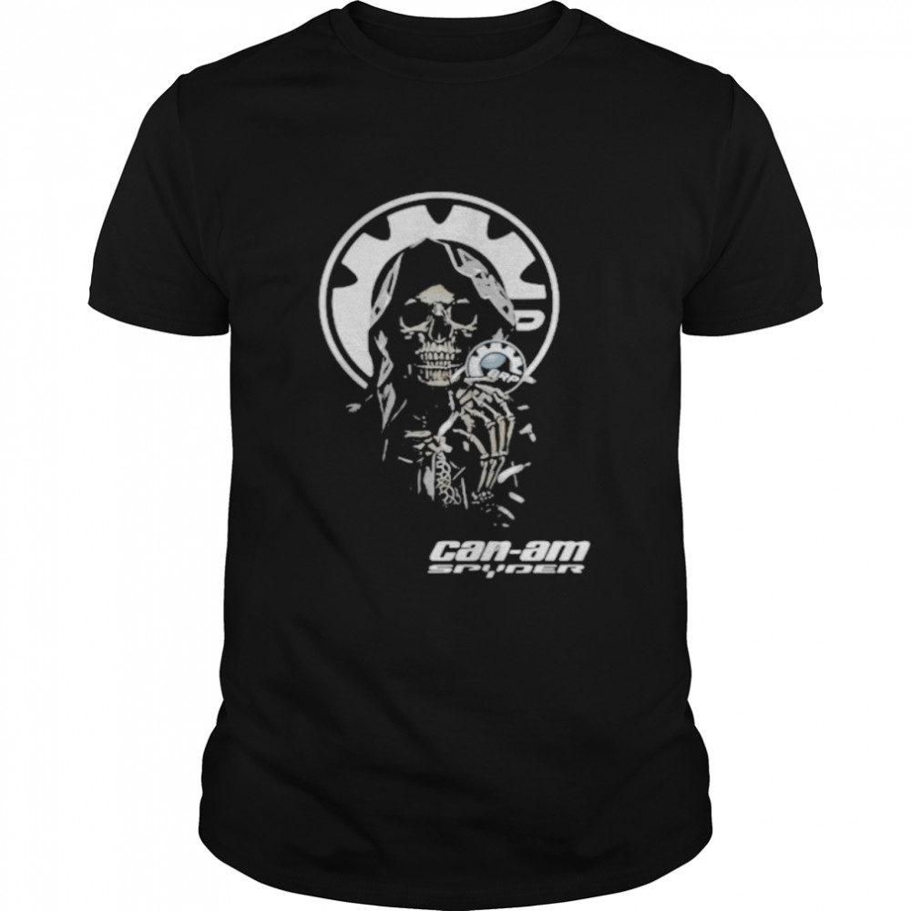 Skull Hug Can Am Spyder Brp Logo  Classic Men's T-shirt