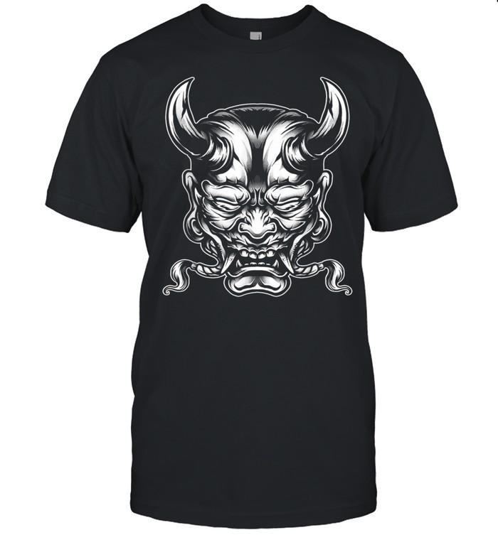 Horned Devil Ogre Demon Mask Asian Spirit shirt Classic Men's T-shirt