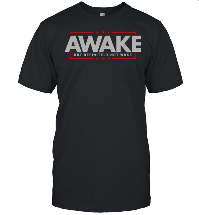 Awake Not Woke Political Censorship Election  Classic Men's T-shirt