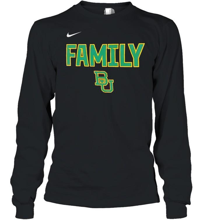Baylor Bears nike 2021 NCAA men's basketball shirt Long Sleeved T-shirt