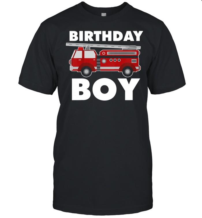 Birthday Boy Fire Truck shirt Classic Men's T-shirt