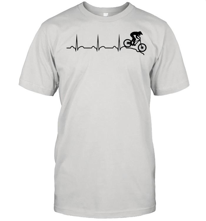 Mountain bike heartbeat downhill heartbeat mtb bike park shirt Classic Men's T-shirt