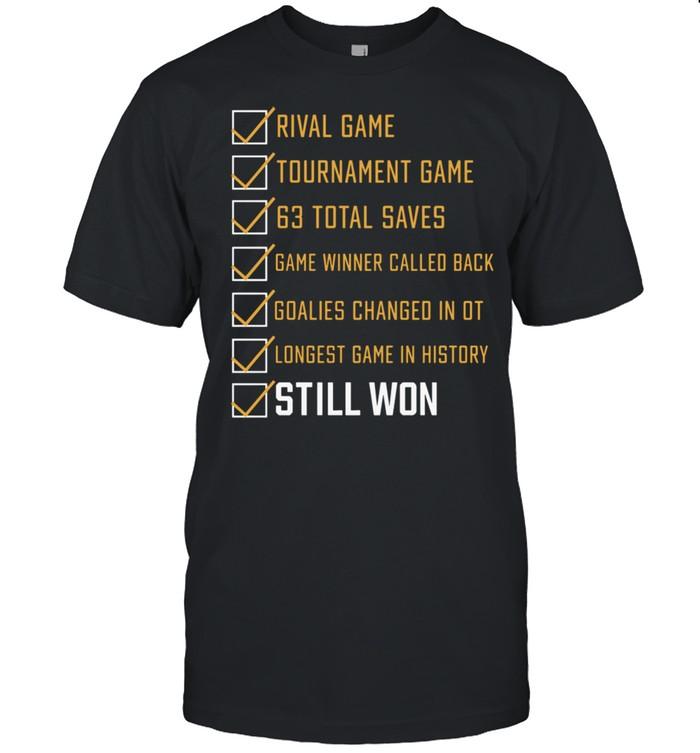 Rival Game Tournament Game 63 Total Saves Still Won shirt Classic Men's T-shirt