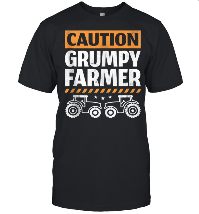 Caution grumpy farmer  Classic Men's T-shirt
