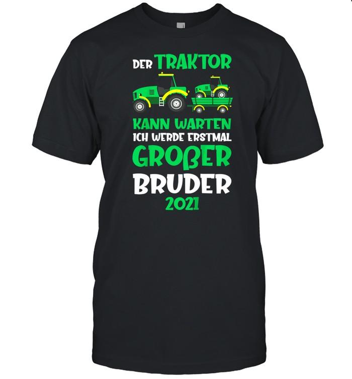 Kinder Ich werde großer Bruder 2021 Traktor Bauernhof Geschenk shirt Classic Men's T-shirt