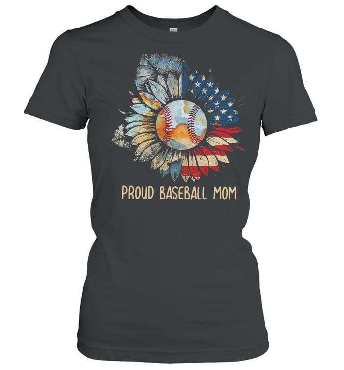 Sunflower proud baseball mom shirt Classic Women's T-shirt