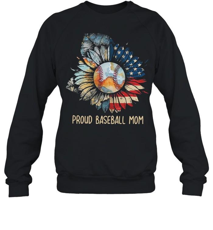 Sunflower proud baseball mom shirt Unisex Sweatshirt
