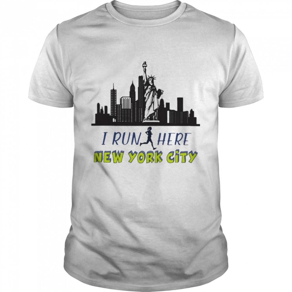 Girl I run here New York City shirt Classic Men's T-shirt