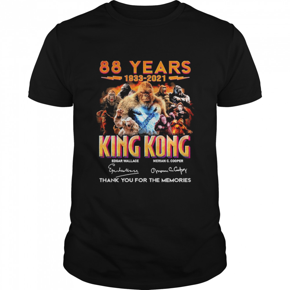 88 Years 1933 2021 King Kong Signatures Thank You For The Memories  Classic Men's T-shirt