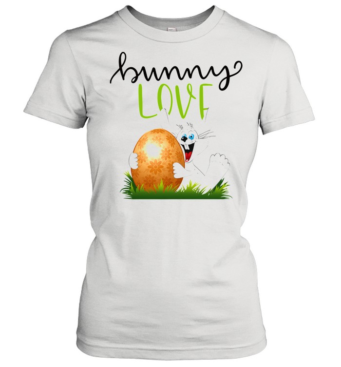 Bunny Rabbits Easter Day Egg Chocolate  Classic Women's T-shirt