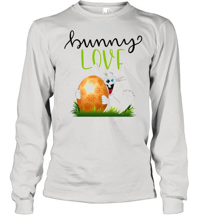 Bunny Rabbits Easter Day Egg Chocolate  Long Sleeved T-shirt