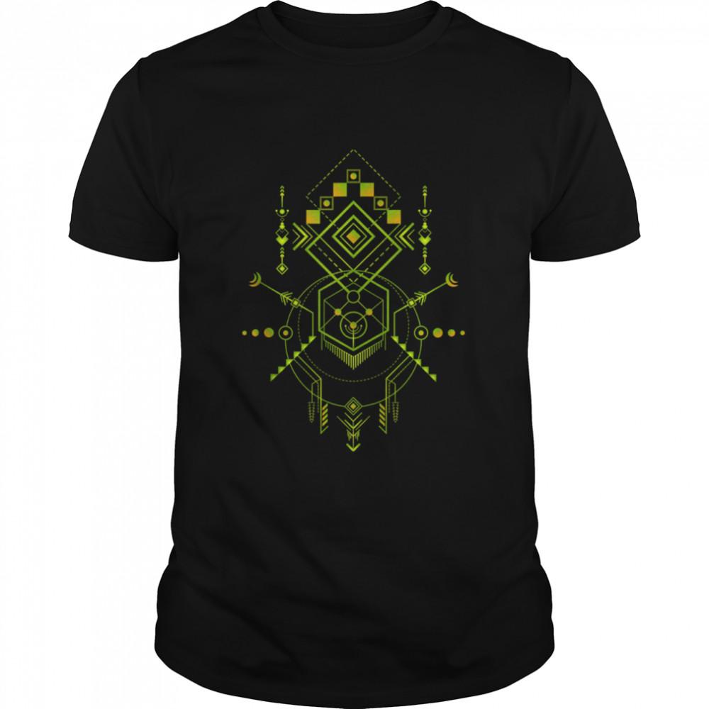 Navajo Totem Sacred Geometry  Classic Men's T-shirt
