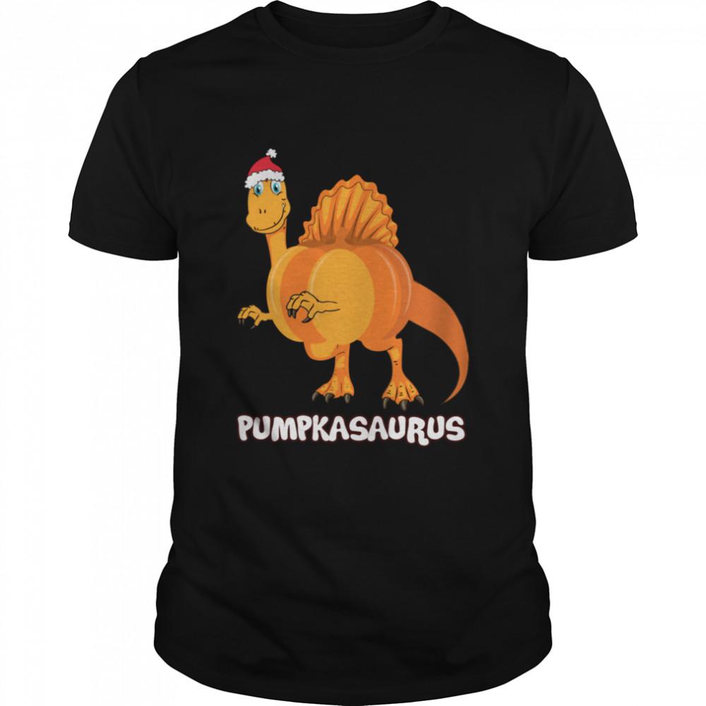 Pumpkasaurus Pumpkin & Dinosaur Thanksgiving shirt Classic Men's T-shirt