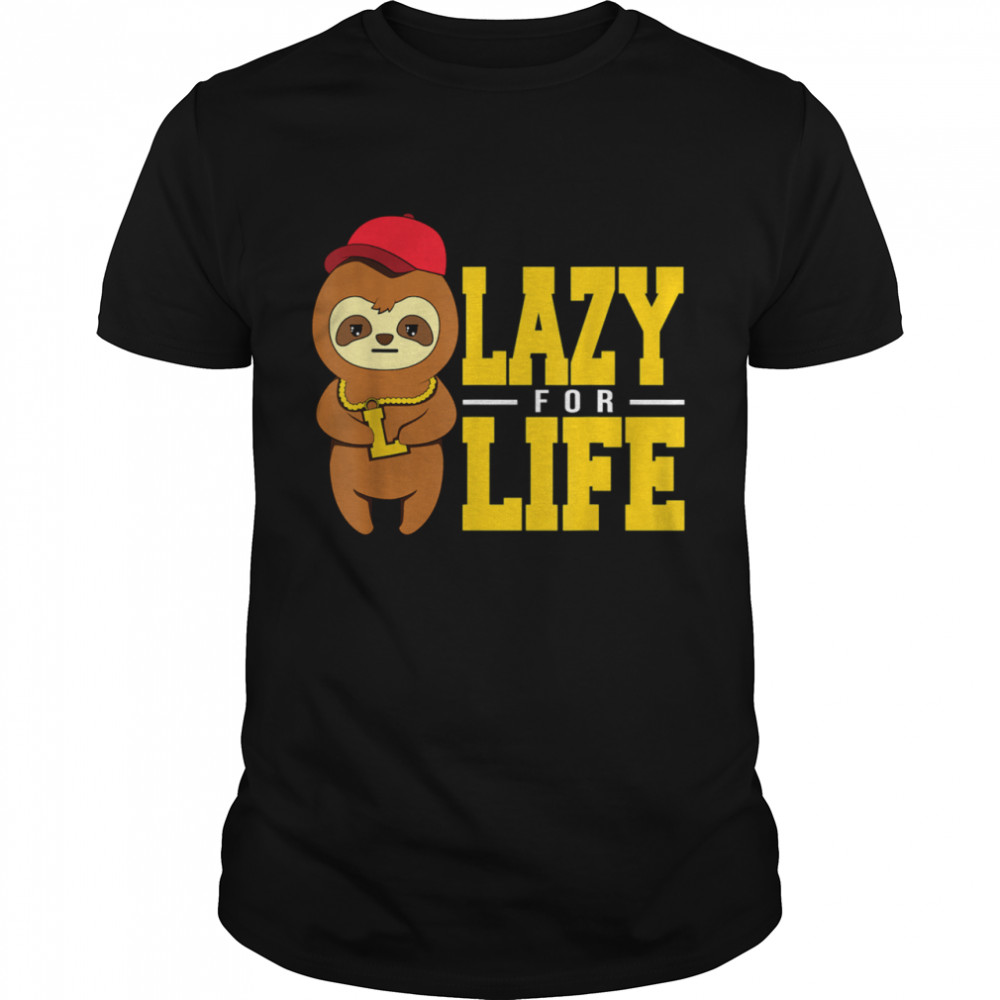 Sloth Lazy For Life  Classic Men's T-shirt