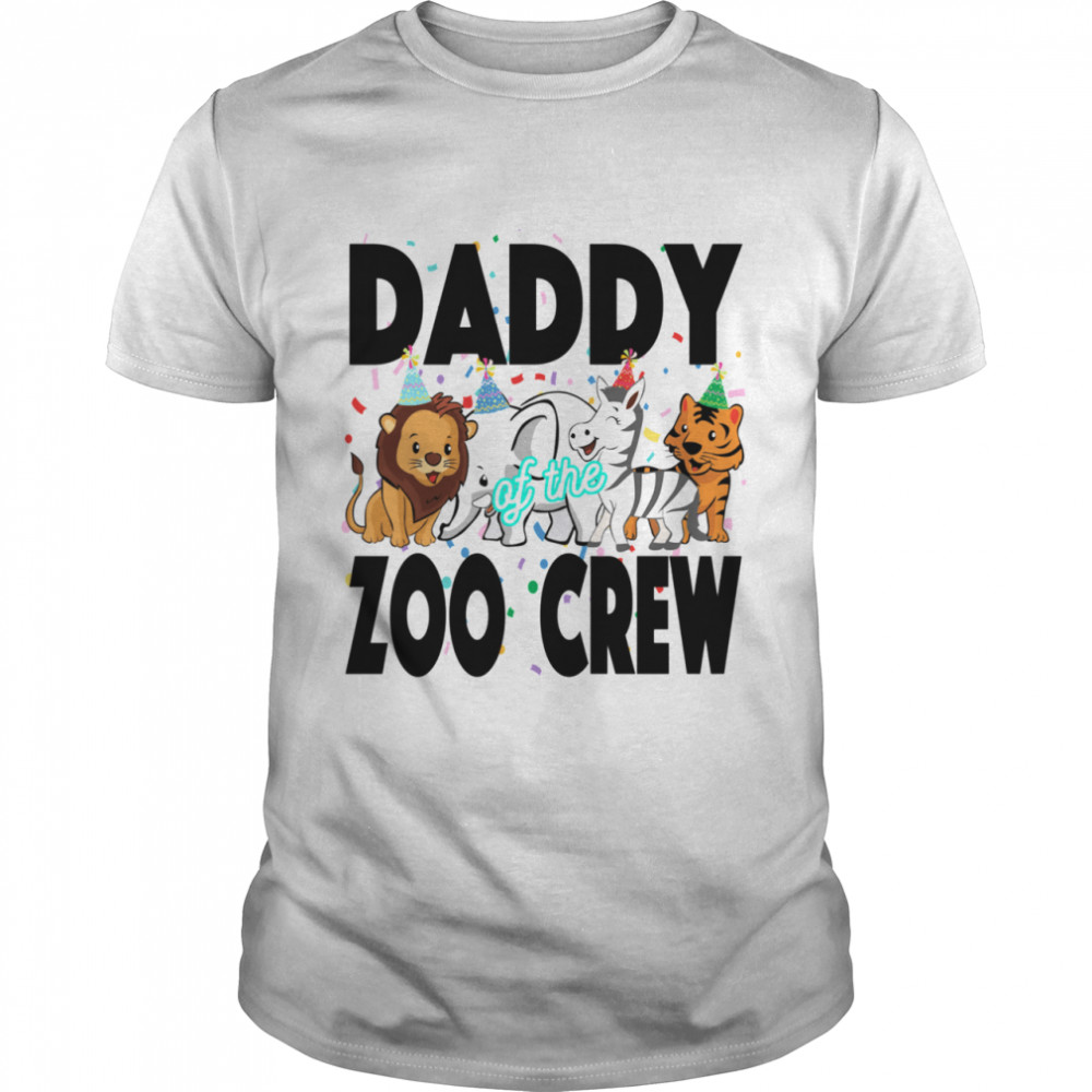 Zoo jungle birthday family costume party DADDY  Classic Men's T-shirt