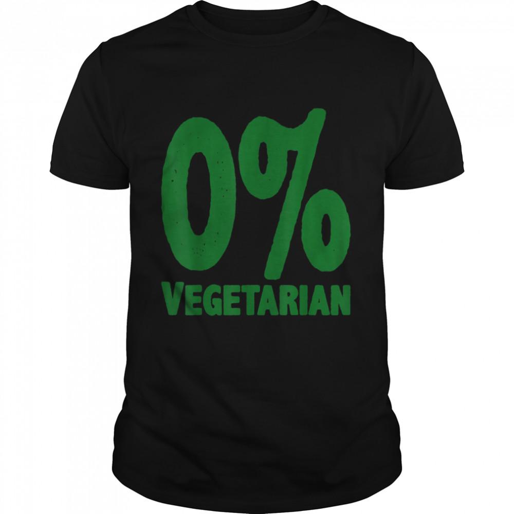 0% Vegetarian  Classic Men's T-shirt