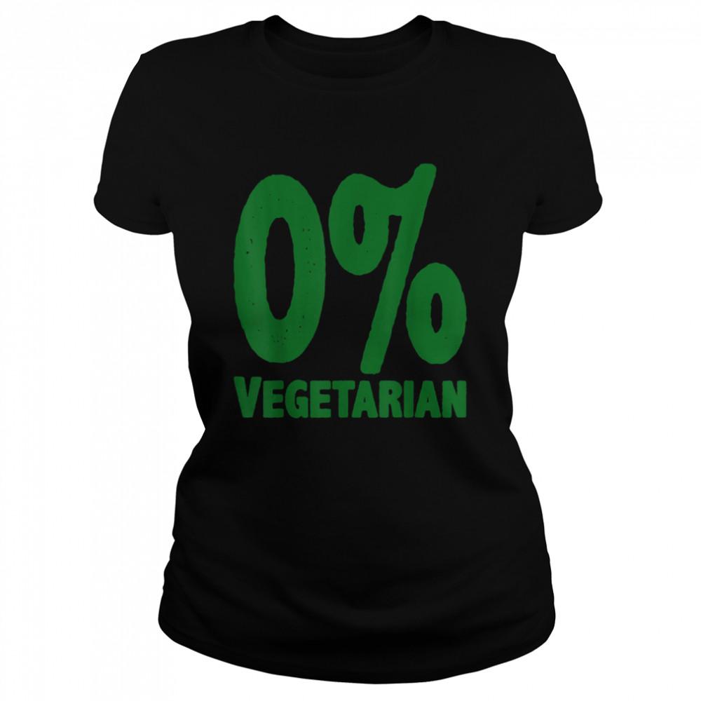 0% Vegetarian  Classic Women's T-shirt