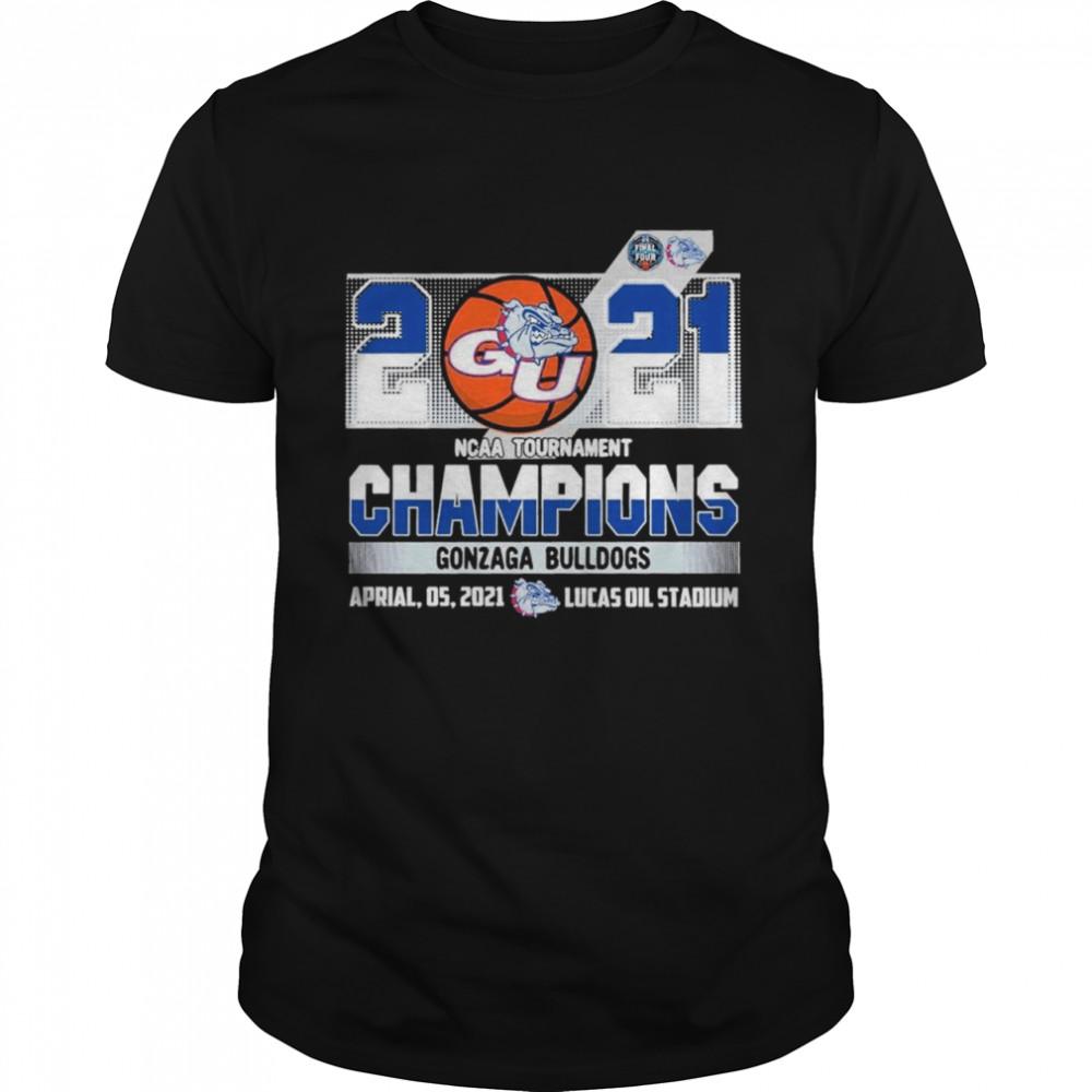 2021 NCAA Tournament Champions Gonzaga Bulldogs Team Basketball shirt Classic Men's T-shirt