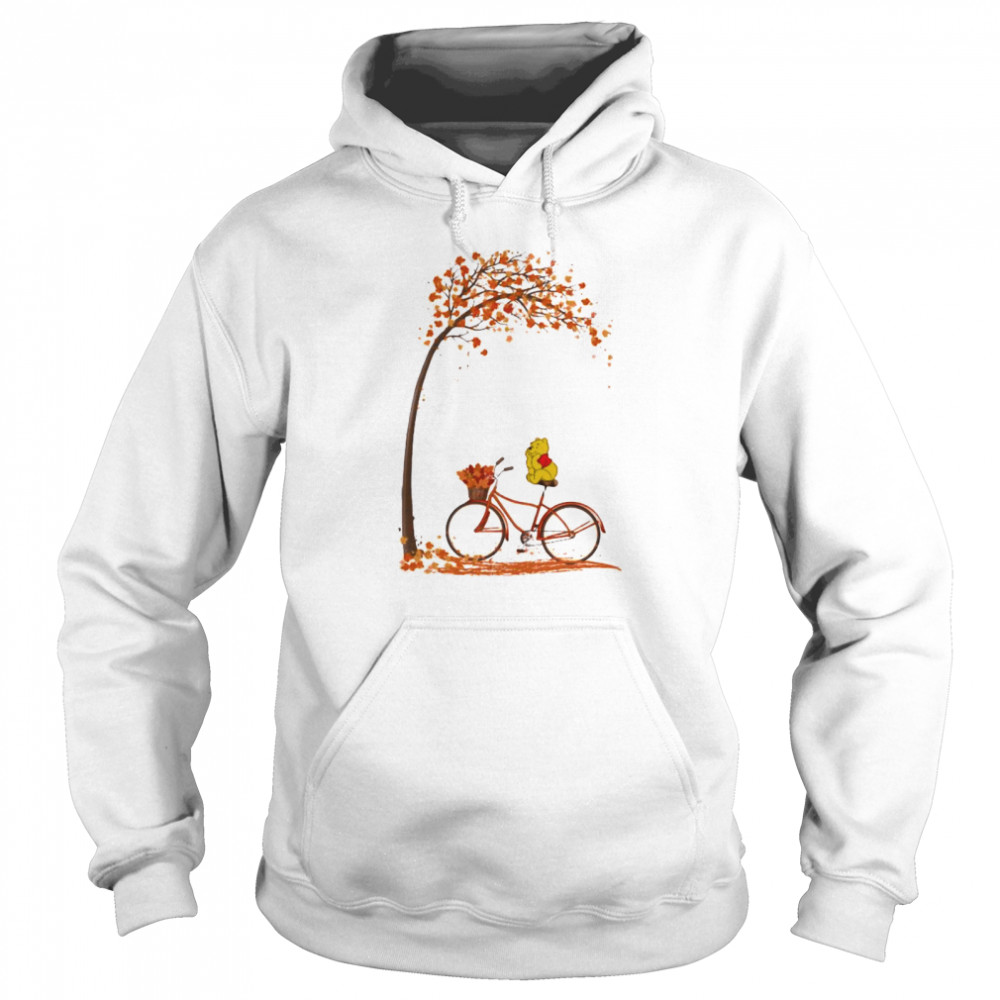Autumn Pooh Bicycle  Unisex Hoodie