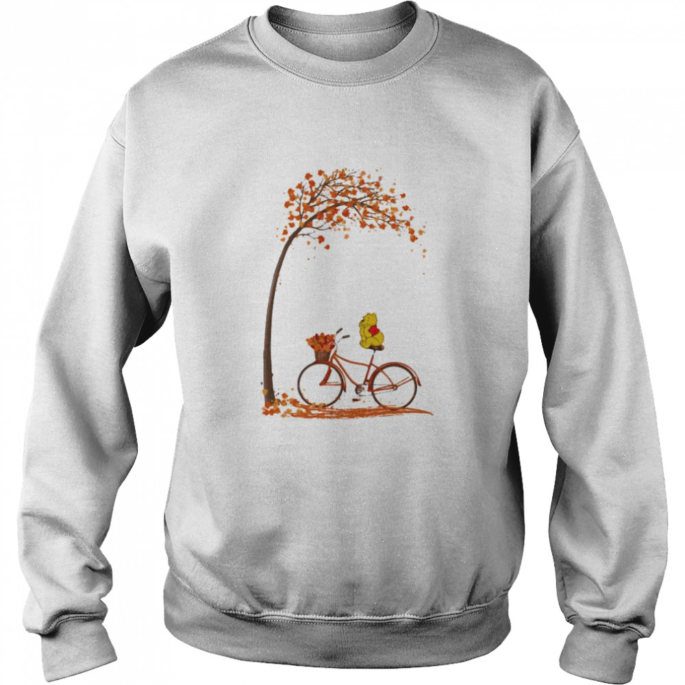 Autumn Pooh Bicycle  Unisex Sweatshirt