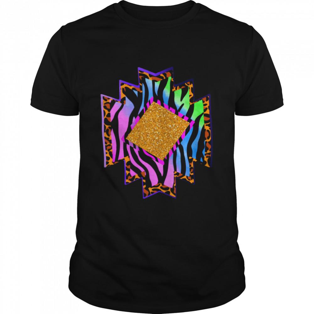 Aztec country shape western rodeo cheetah serape shirt Classic Men's T-shirt