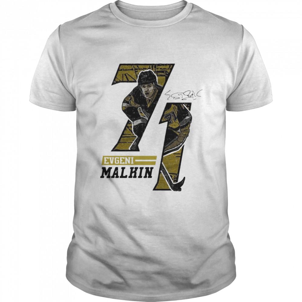 Evgeni Malkin Offset Signature shirt Classic Men's T-shirt