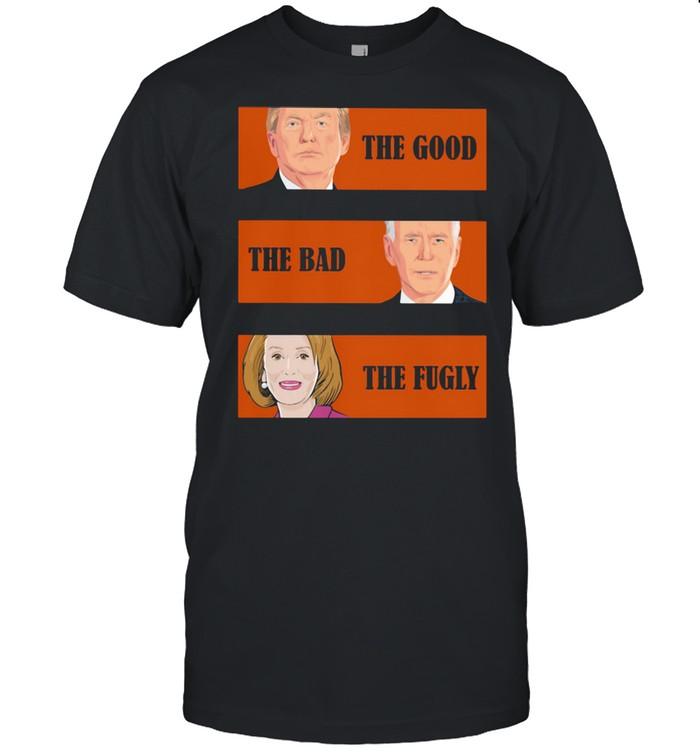 The Good The Bad The Fugly Trump Biden Clinton  Classic Men's T-shirt