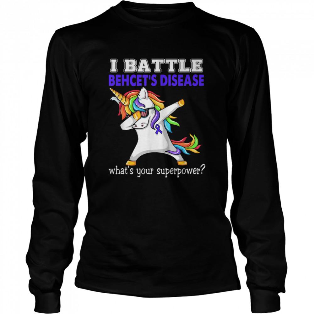 Unicorn I Battle Behcet's Disease Awareness  Long Sleeved T-shirt