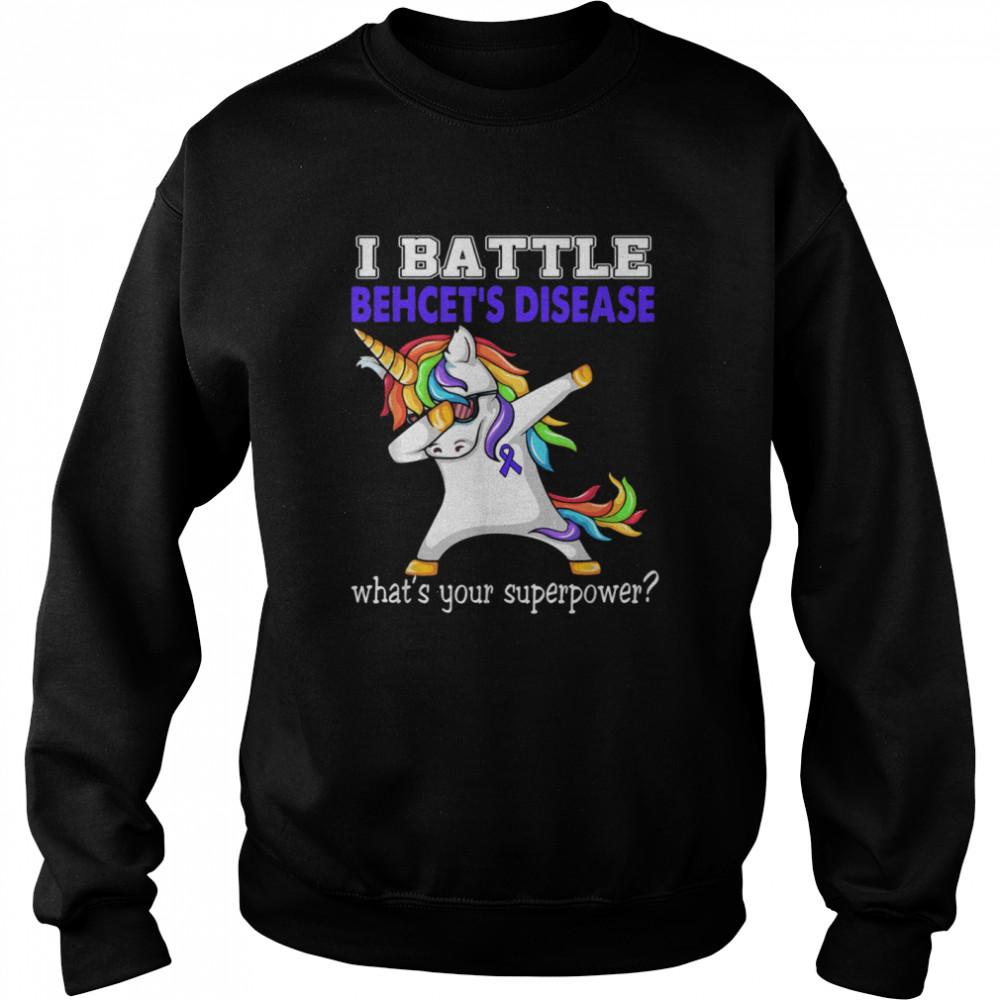Unicorn I Battle Behcet's Disease Awareness  Unisex Sweatshirt