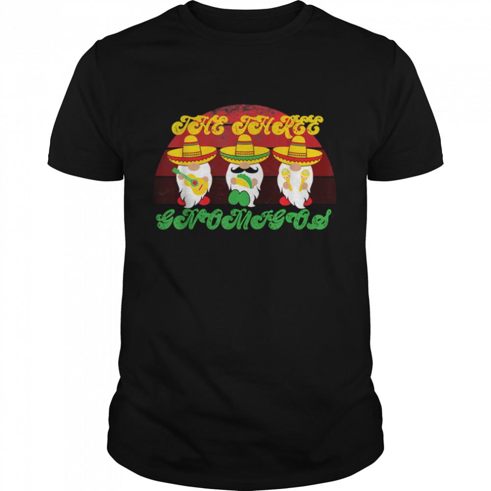Vintage 70s The Three Gnomigos Retro Cinco De Mayo Gnomes  Classic Men's T-shirt