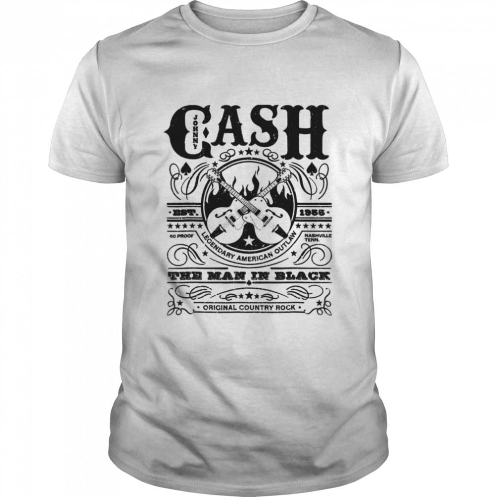 Vintage Outlaws Music Retro Johnny Arts Cash Legends shirt Classic Men's T-shirt