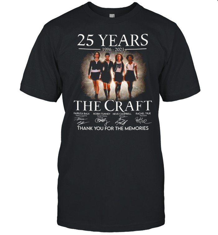 25 years 1996 2021 The Craft signatures thank you for the memories shirt Classic Men's T-shirt