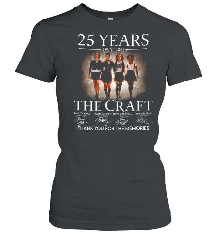 25 years 1996 2021 The Craft signatures thank you for the memories shirt Classic Women's T-shirt