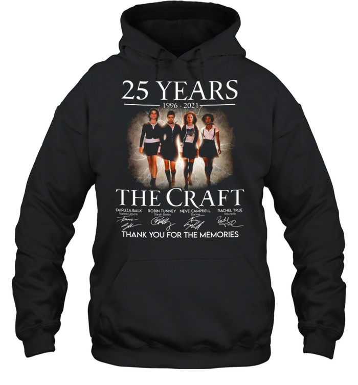 25 years 1996 2021 The Craft signatures thank you for the memories shirt Unisex Hoodie