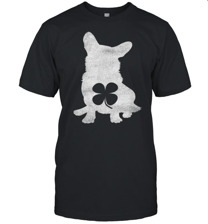 Corgi Dog Shamrock St. Patrick's Day Irish Saint Paddy's  Classic Men's T-shirt